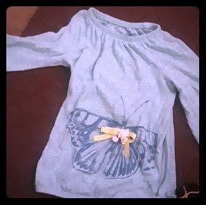 OshKosh Teal Butterfly Shirt